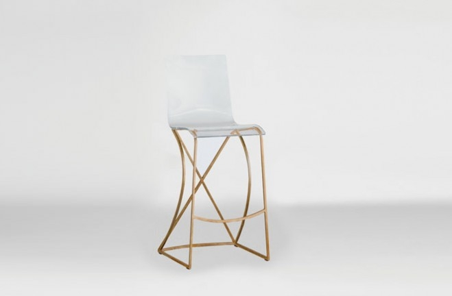 Transparent Acrylic Bar Stool Gold And Lucite Johnson regarding The Brilliant and Attractive lucite bar stool with regard to Encourage
