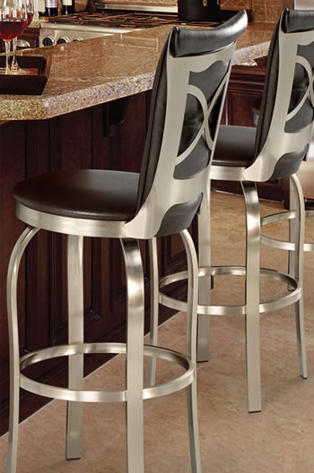 Trica Tuscany 1 Swivel Bar Stool Spectator Height 34quot within spectator height bar stools intended for Warm