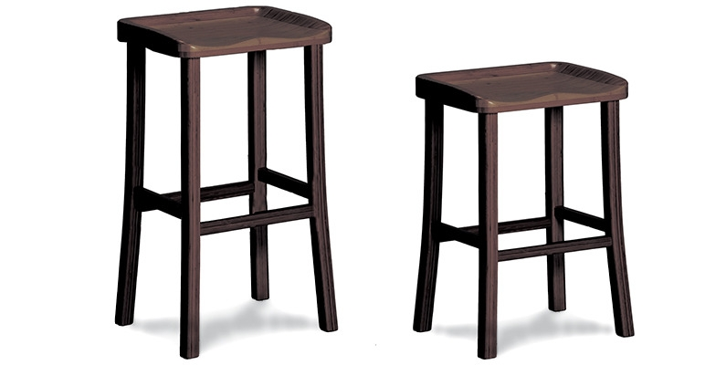 Tulip Bar And Counter Height Stoolsblack Walnut Greenington inside Bar Height Stools