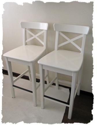 Two Bar Stools Sold Sayonara Roppongi Hills for Ikea Ingolf Bar Stool