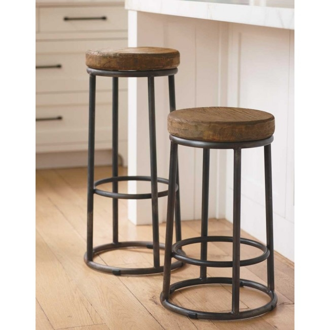 Unfinished Wood Bar Stools Stool with regard to Iron And Wood Bar Stools