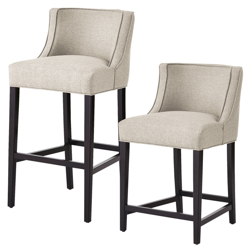 Upholstered Counter Height Bar Stools With Arms Archives Bar intended for Bar Stool Counter Height