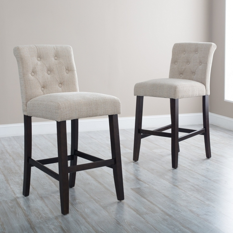 The Most Awesome Upholstered Bar Stools Pertaining To