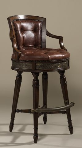 Upholstery Brown Leather And Buttons On Pinterest inside Red Leather Swivel Bar Stools