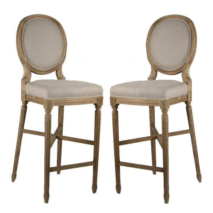 Vintage French Round Back Bar Stools intended for french bar stools with regard to Household