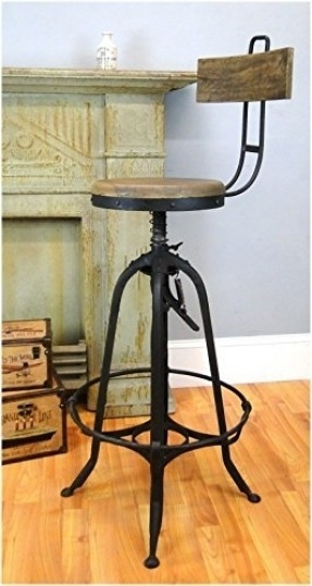 Vintage Industrial Bar Stools Foter throughout The Most Elegant in addition to Gorgeous industrial bar stools with backs intended for Inviting