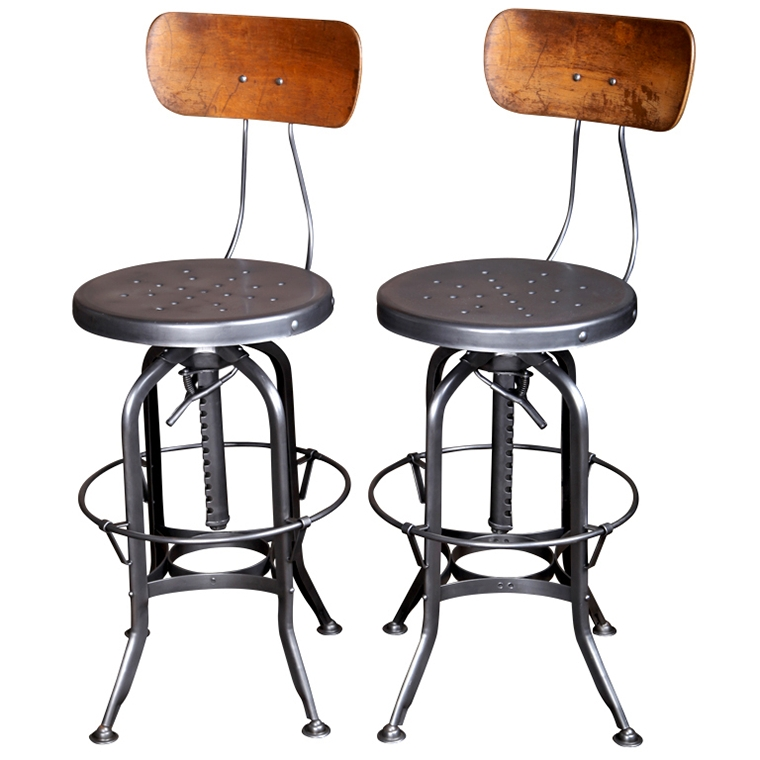 Vintage Metal Bar Stools Homesfeed with regard to Brilliant in addition to Interesting vintage metal bar stools regarding Home