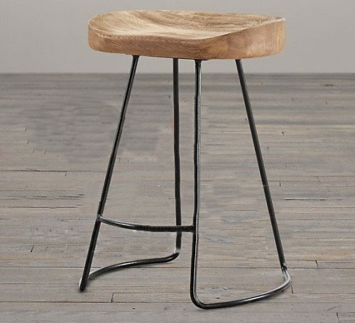 Vintage Style Metal Bar Stools Home Bar Design with Iron And Wood Bar Stools
