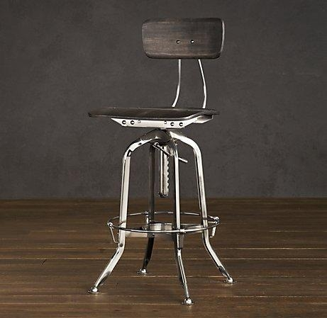 Vintage Toledo Chair Polished Chrome Bar Amp Counter Stools in restoration hardware bar stools with regard to Property