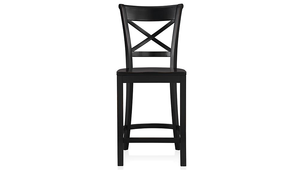 Vintner Black Bar Stool And Cushion Crate And Barrel pertaining to black bar stool for House