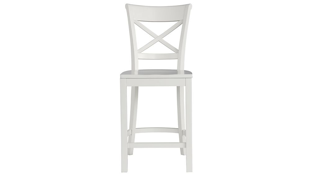 Vintner White Bar Stool And Cushion Crate And Barrel inside The Stylish  white bar stools regarding Inspire