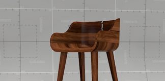 Walnut Bar Stool 3d Model Formfonts 3d Models Amp Textures throughout The Elegant as well as Interesting walnut bar stools for Household