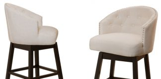 Westman Swivel Bar Chairs Set Of 2 Beige Transitional Bar with The Most Incredible and Interesting fabric bar stools for Household