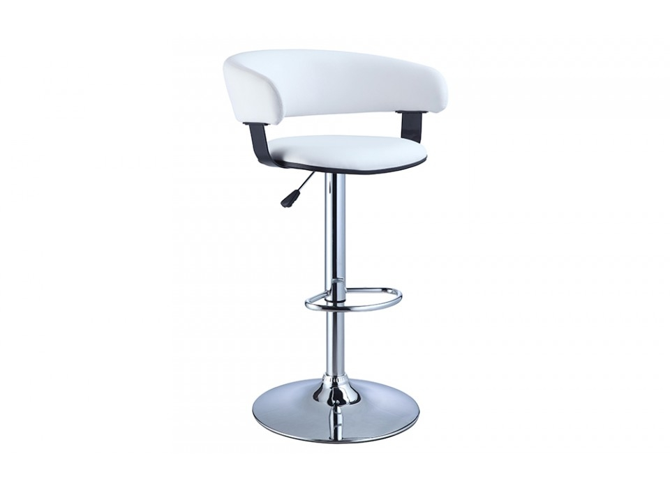 White Amp Chrome Scoop Back Bar Stool Outlet One Shot Deals with white swivel bar stools with back regarding Motivate