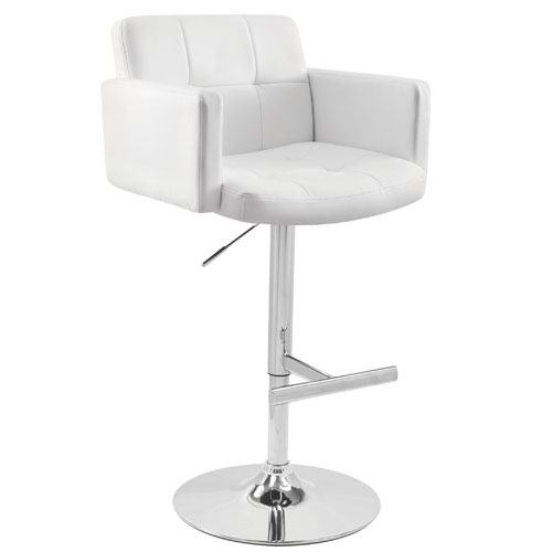 White Contemporary Bar Stools Bellacor with White Bar Stools