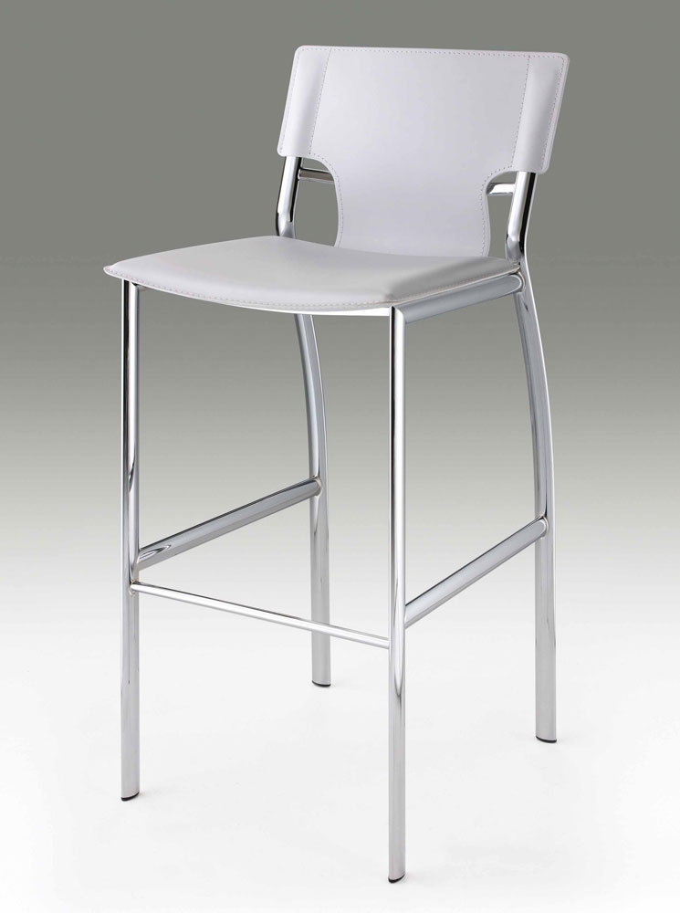 White Leather Bar Stool Cr121 Bar Stools throughout Bar Stools White