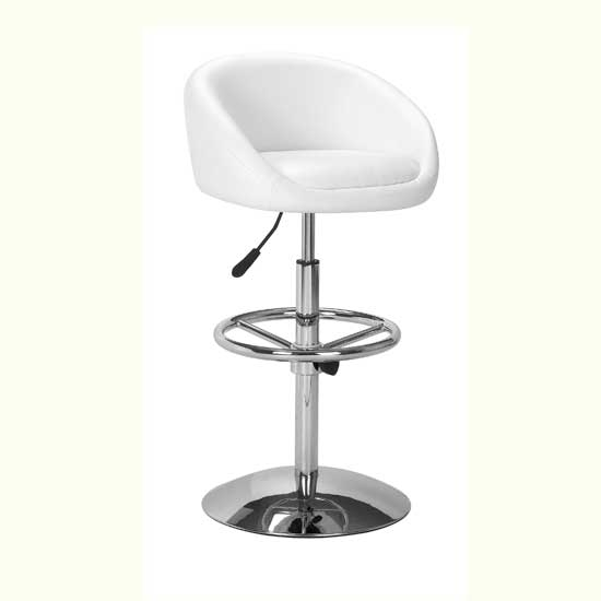 White Leather Bar Stool Hydraulic Pistons 1 Pair From Art with White Leather Bar Stool