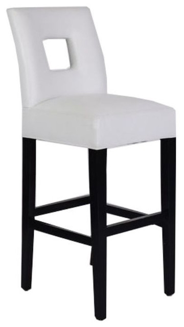 White Leather Padded Bar Stool 400 Est Retail 150 On inside white leather bar stools regarding Home