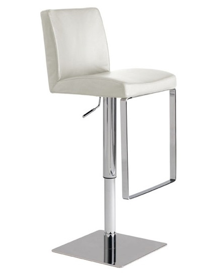 White Mattoe Bar Stool Advancedinteriordesigns with Bar Stools White