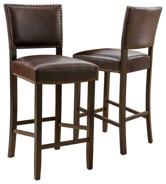 William Bar Stools Set Of 2 Traditional Bar Stools And for Set Of 2 Bar Stools