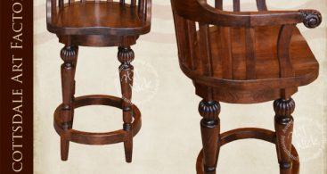 Windsor Bow Back Swivel Solid Cherry Bar Stool regarding bar stool swivels for Invigorate