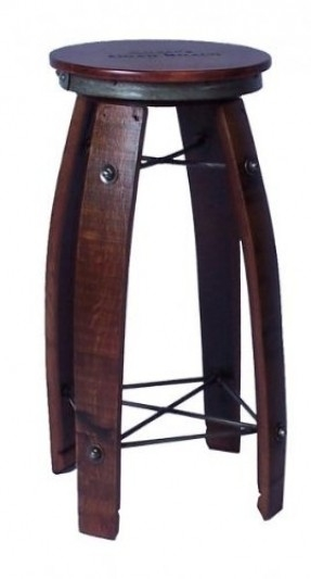 2 Day Designs Wine Barrel Bar Stools Tan Or Chocolate Leather Tops for Elegant  wine barrel bar stools with regard to Really encourage