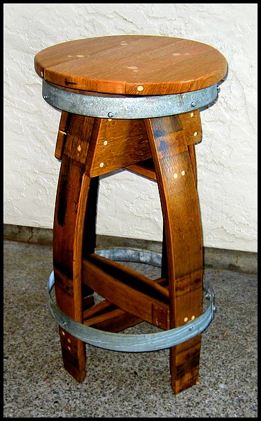 Wine Barrel Swing Barrel Style Bar Stools Wine Barrel Bar Stools intended for Wine Barrel Bar Stools