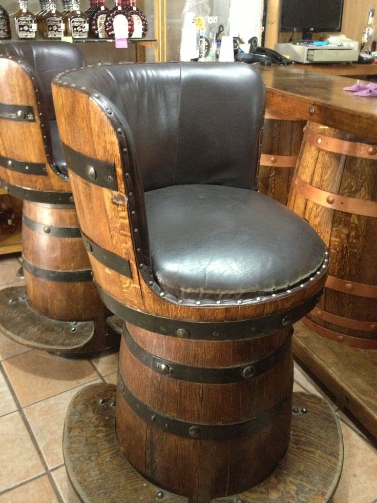 Wine Barrels Bar Stools And Barrels On Pinterest with Wine Barrel Bar Stools