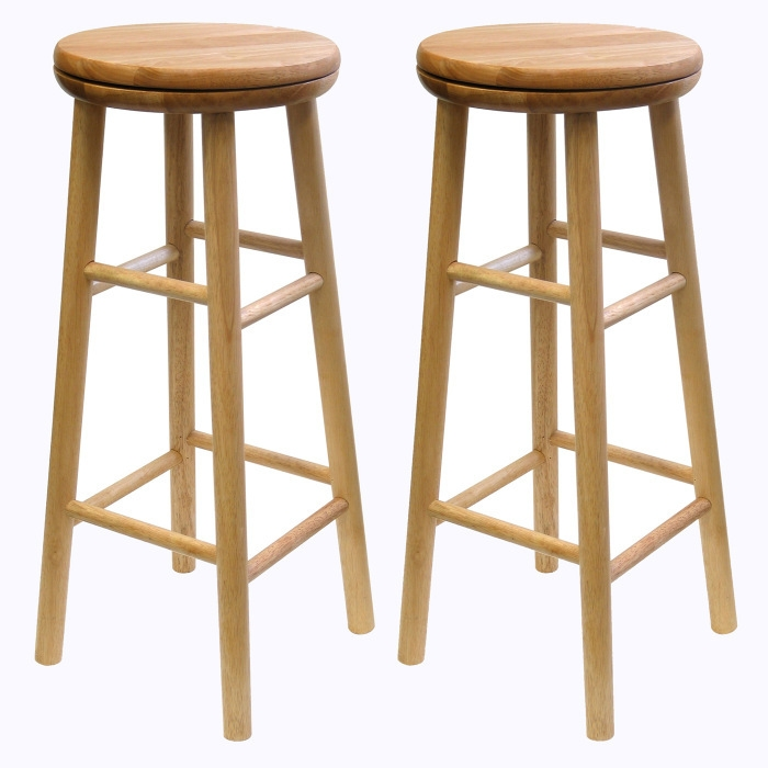 Winsome Wood 30quot Wooden Swivel Bar Stool Set Of 2buy Now with regard to Winsome Wood Bar Stools