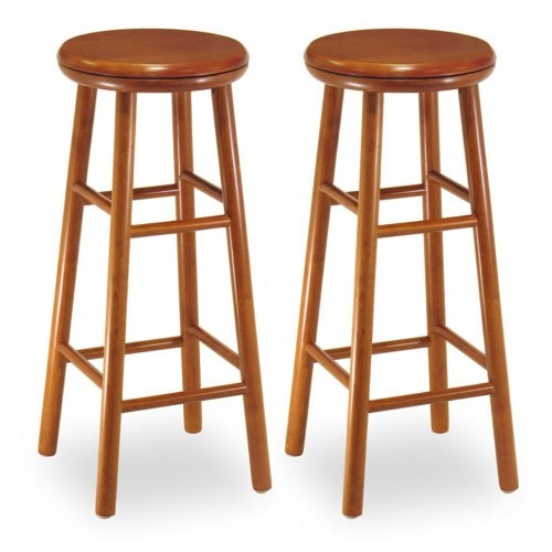 Winsome Wood 31 Inch Charger Swivel Seat Bar Stool Set Of 2 within The Most Awesome  31 inch bar stools for Encourage