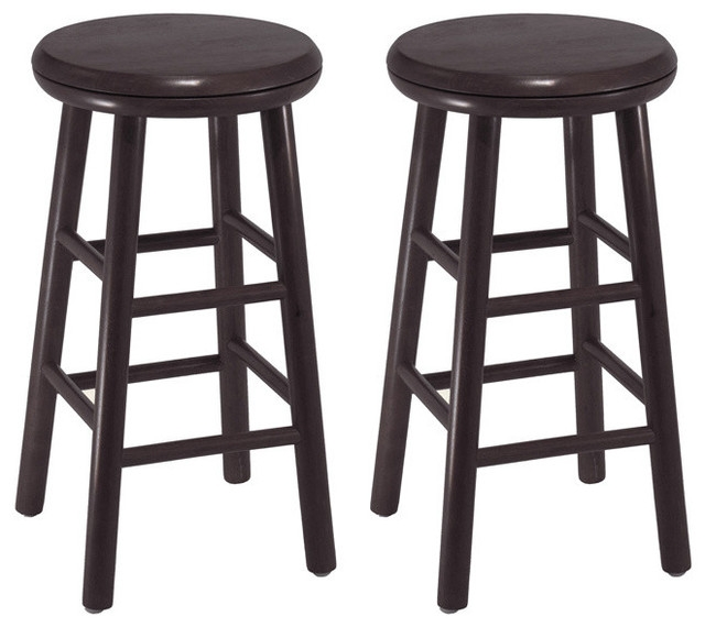 Winsome Wood Swivel Kitchen Stool Assembled Set Of 2 24 intended for winsome wood bar stools intended for Comfy