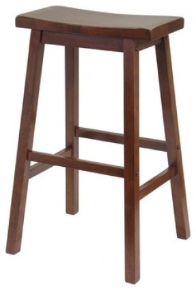 Winsome Wood Walnut Bar Stool Foter throughout winsome wood bar stools intended for Comfy