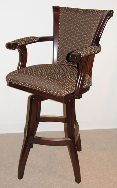 Wood Amp Wooden Swivel Bar Stools pertaining to Bar Stool With Arms And Swivel