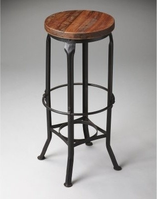 Wood And Metal Backless Bar Stools Wood Seat Backless Bar Stool throughout Wood Backless Bar Stools