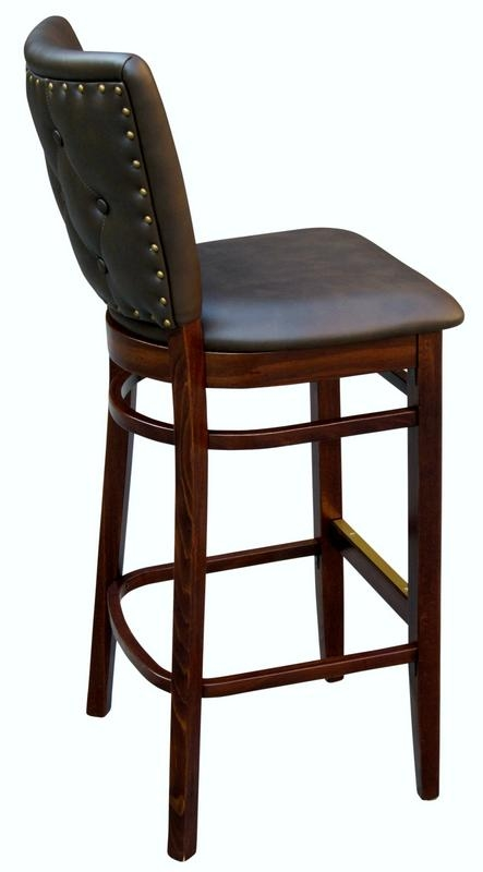 Wood Bar Stool 24020eft Restaurant Wood Chair within Restaurant Bar Stools