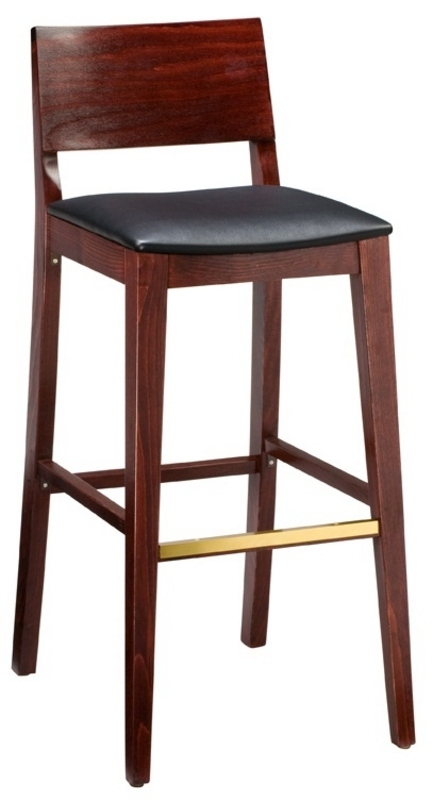 Wood Bar Stool 2438 Half Back Bar Stool Restaurant Bar Stool throughout Restaurant Bar Stools