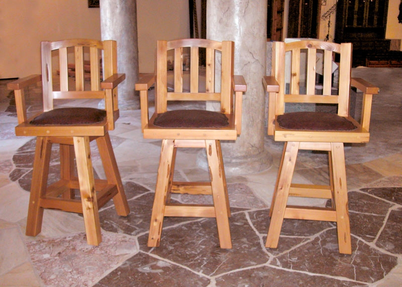 Wood Bar Stools Swivel Bar Stools Craftsman Bar Stools intended for Solid Oak Bar Stools Swivel