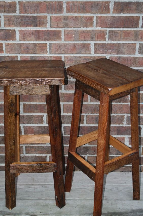 Wood Bar Stools Wood Bars And Barn Wood On Pinterest inside The Most Amazing and Lovely 32 bar stools regarding Motivate