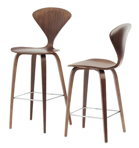 Wood Base Bar Stool Cstw01 From Cherner Chair pertaining to Metal Counter Height Bar Stools