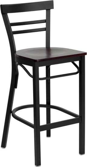 Wood Ladder Back Bar Stools Foter with black wooden bar stools with regard to Your home