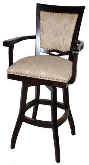 Wood Swivel Bar Stools With Arms Foter in 24 bar stools intended for Household