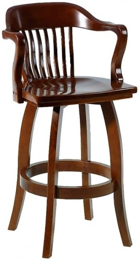 Wood Swivel Bar Stools With Arms Foter pertaining to Swivel Bar Stools With Arms
