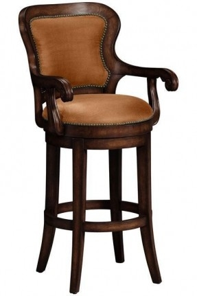 Wood Swivel Bar Stools With Arms Foter within Swivel Bar Stool With Arms And Back