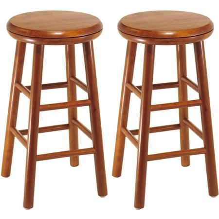 Wood Swivel Seat Bar Stool 25 Set Of 2 Cherry31164 regarding cherry wood bar stools regarding Residence