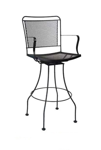 Woodard Constantine Outdoor Swivel Bar Stool pertaining to swivel outdoor bar stools for Cozy