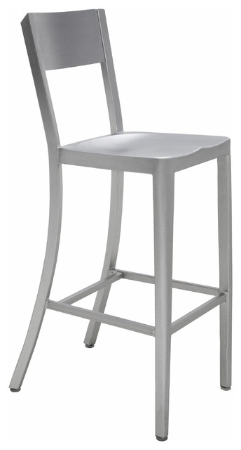 Wooster Industrial Style Silver Aluminum Outdoor Safe Barstool pertaining to The Most Amazing along with Interesting silver bar stools for Comfortable