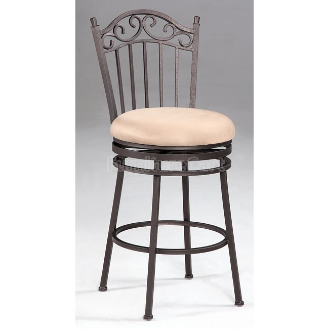 Wrought Iron Counter Height Dining Room Set Chintaly Imports for wrought iron swivel bar stools regarding Warm
