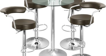 Zenith Bar Stool And Vetro Table Set Brown 8 Awesome Bar Stool intended for The Most Elegant along with Attractive bar stool set with regard to  Property