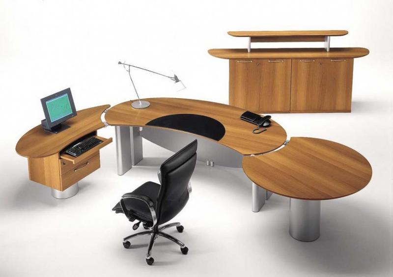 Best Modular Wood Office Furniture With Contemporary Black Office Chair