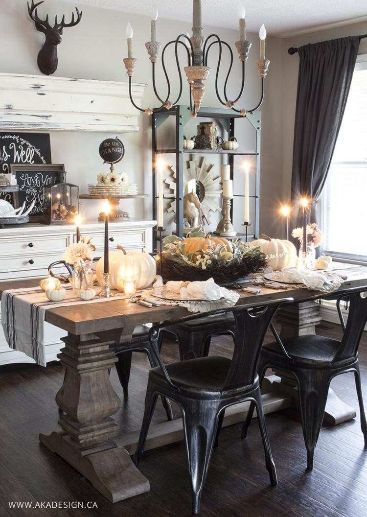 12+ Adorable Dining Room Buffet Design Ideas Suitable For Fall